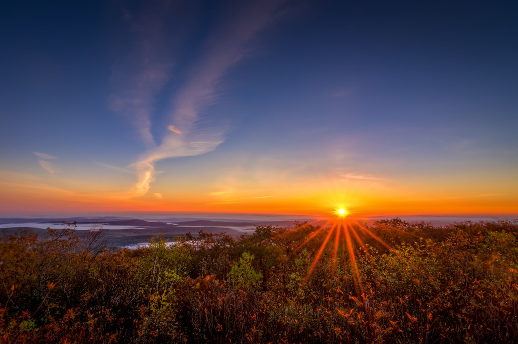 Sunrise at Wachusett Mountain