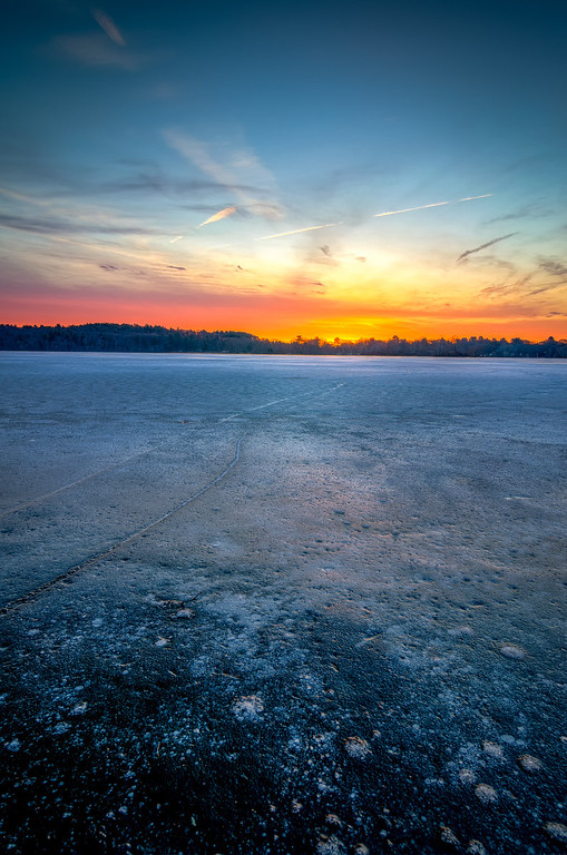 Icy Sunrise at Lake Winthrop