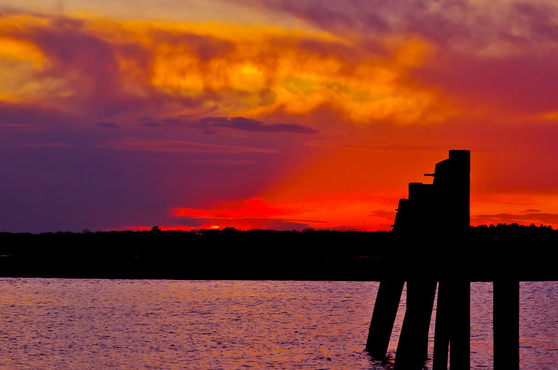 A Magnificent sunset, Salisbury, MA, order limited addition print of 100