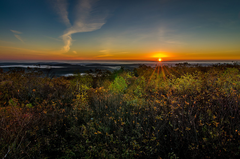 Sunrise from top of Mount Wachusett - Princeton, MA
