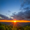 Sunset Sunstar from Mount Greylock