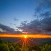 Sunset Sunstar from Mount Greylock