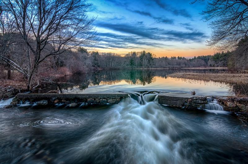 Dusks Settles in Over Howard Pond - Cumberland, RI