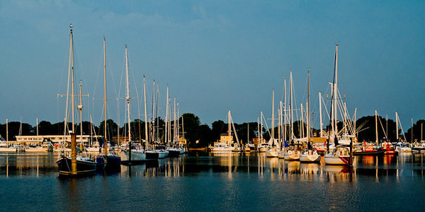 Sleeping Sailboats. Wickford, RI, order limited addition print of 200<br /> Angela Litterio