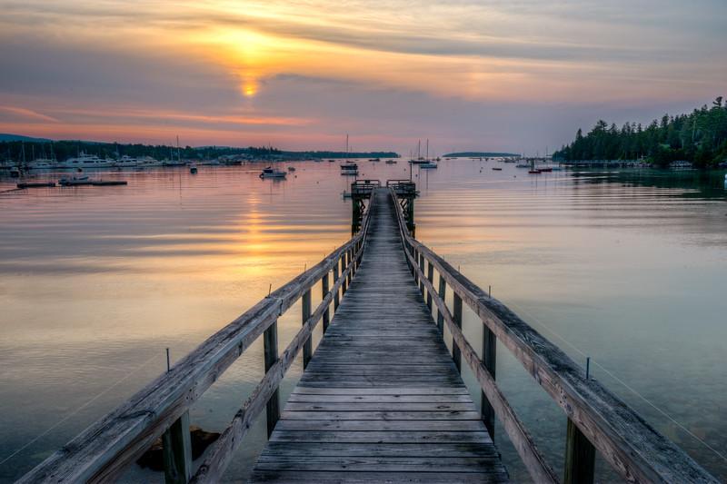 Sunrise at Southwest Harbor