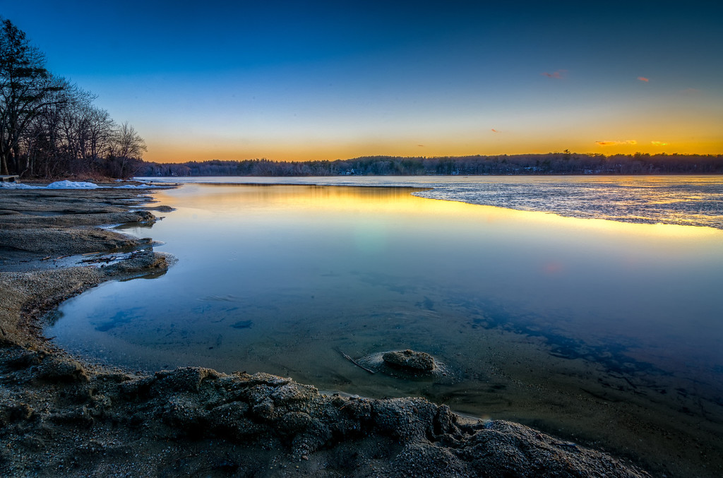 Lake Winthrop Spring Thaw Sunset
