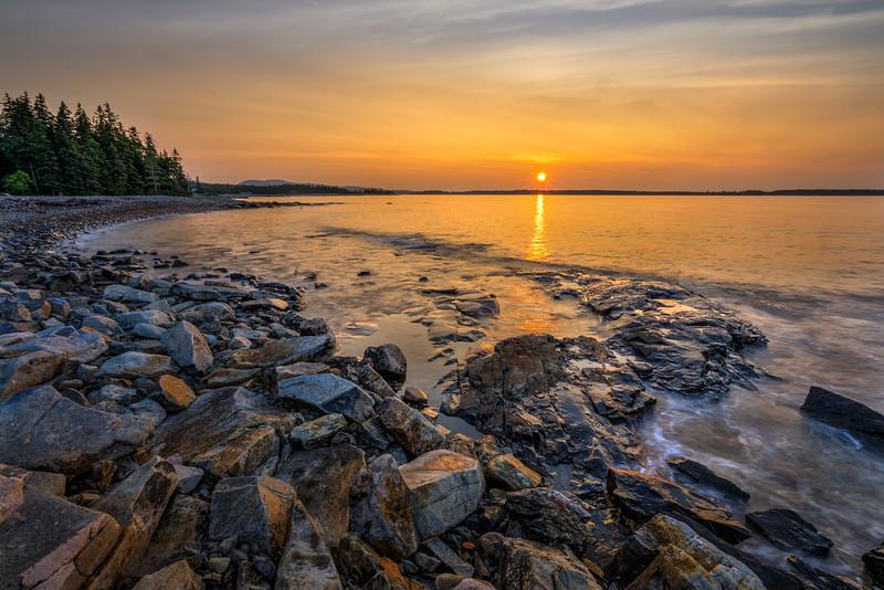Seawall Sunrise - Acadia National Park, Maine - Tom Sloan