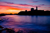 Nubble lighthouse in Silhouette, Maine