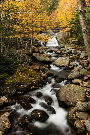 Crystal Cascade at Pinkham Notch, NH. HM in Color Prints, N4c, April 2108.