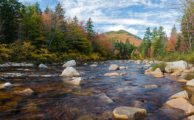The Kancamagus Highway runs beside the Swift River for many miles.