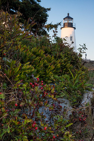 The lighthouse at Pemaquid Point in Maine.