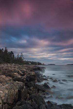 Maine Coast at Dawn. 2nd place in Travel Prints, N4C February 2018.
