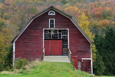 I admire the creative use of old windows in refitting this old barn as an event space. Rte 100 VT.