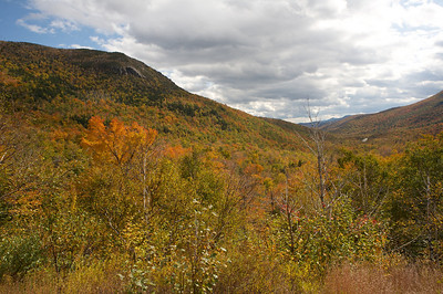 Fall colors near Mt Washington in New Hampshire