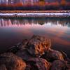 Down By The River During Peak Autumn Season - Deschutes River, Bend, Oregon St