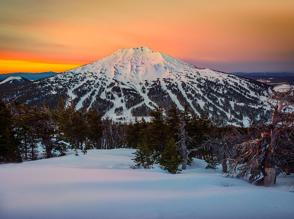 Mount Bachelor From Tumalo Mountain - Bend, Oregon St.