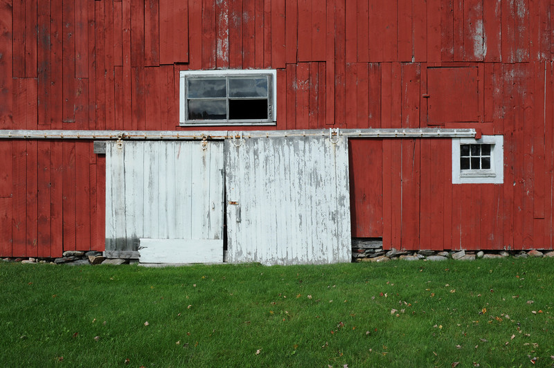 Fall 2008, Barn door, Easton Road, Franconia, NH.