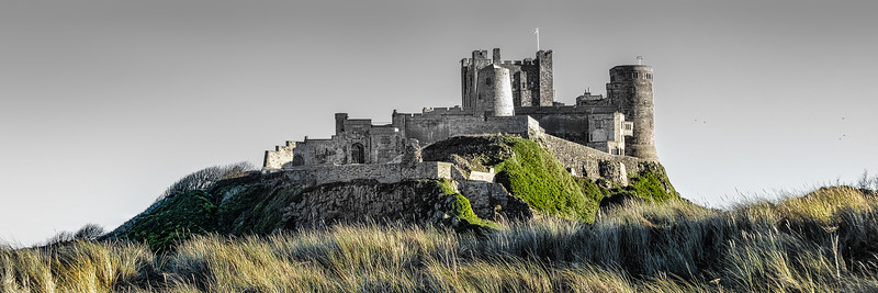 Bamburgh Castle From the Dunes, Northumberland England