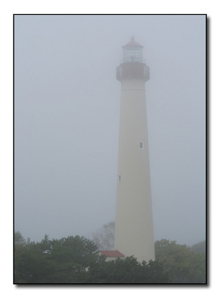 Cape May Lighthouse in Fog (86856479)