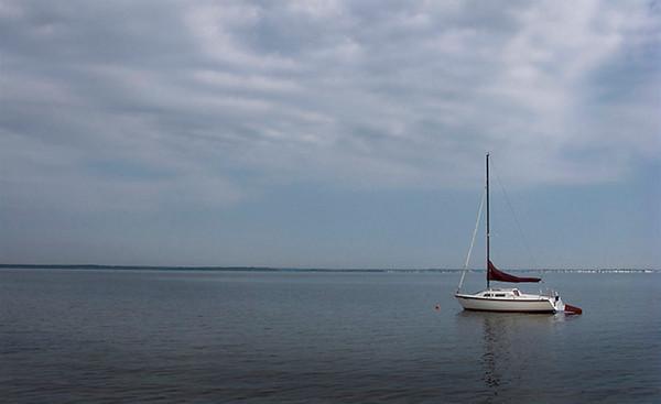 Sailboat at Anchor Barnegat Bay (99301345)