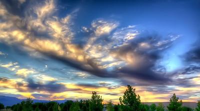 Sunrise over the Sandia Mountains.