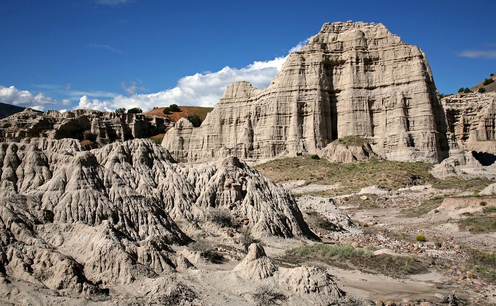 Erosion of volcanic tuff deposits near Abiquiu, NM