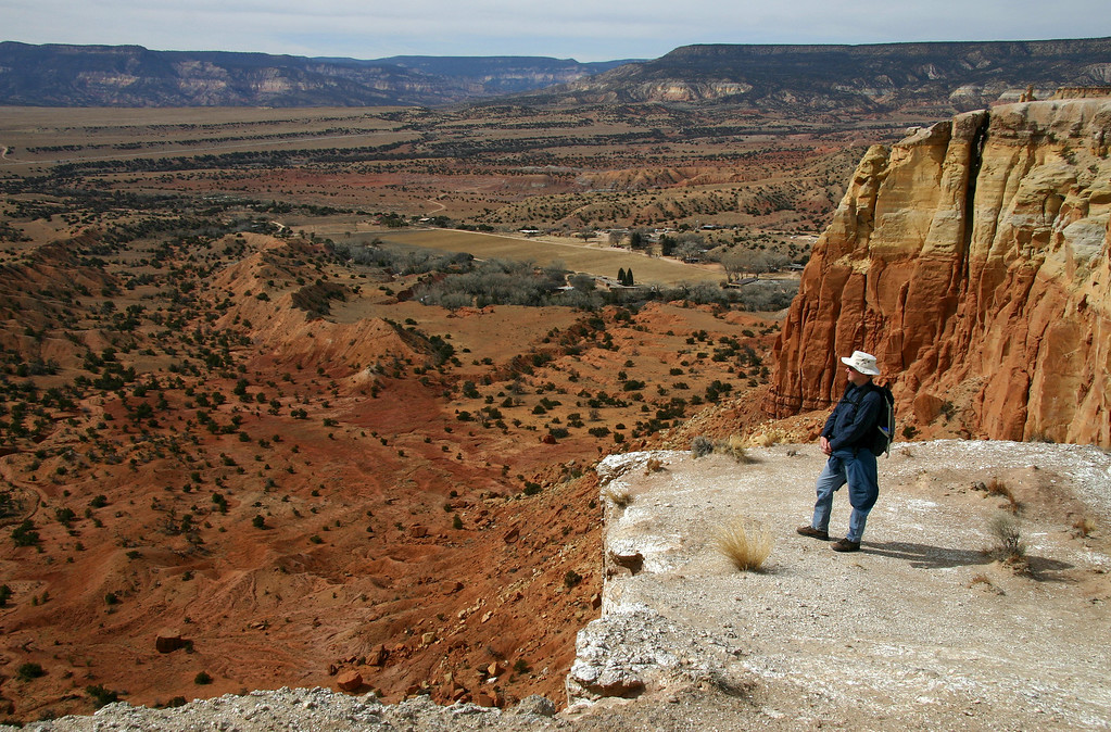 On top of Kitchen Mesa, Ghost Ranch near Abiququ