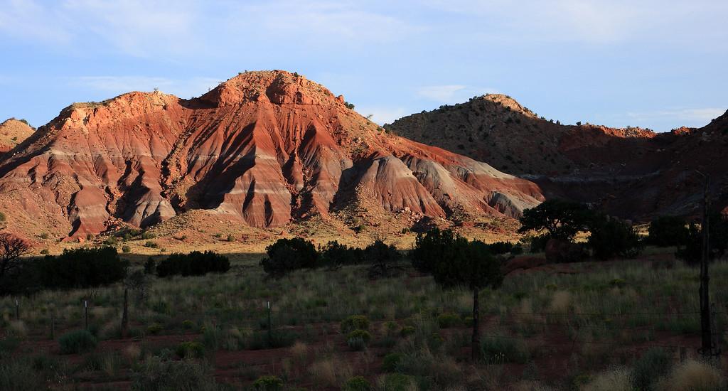 Banded Sandstone hills near Abiququ