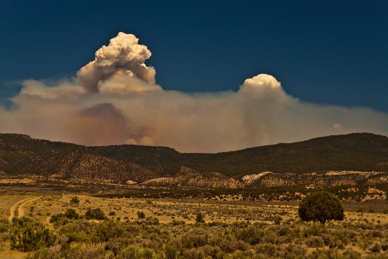 Smoke cloud from a forest fire taken July 1, 2011 near Cuba, NM.