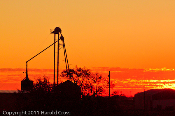 A landscape taken Nov. 1, 2011 near Portales, NM.