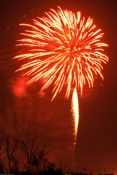 A fireworks display taken July 4, 2011 near Portales, NM.