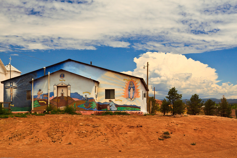 A landscape taken July 13, 2011 at San Miguel, NM.