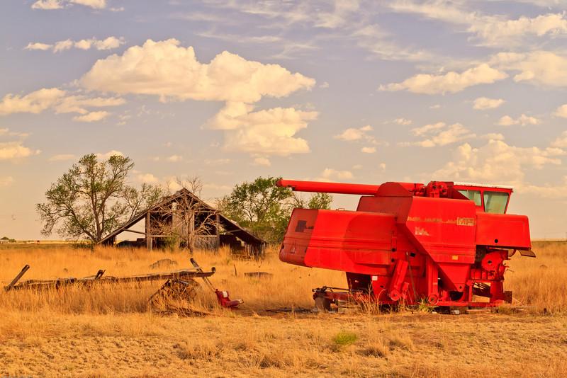 A landscape taken July 2, 2011 near Portales, NM.