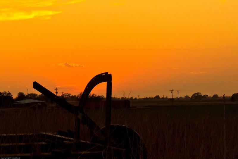 A landscape taken July 1, 2011 near Portales, NM.