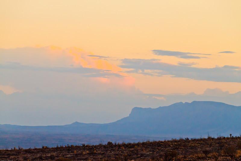 A landscape taken July 18, 2011 near Carlsbad, NM.
