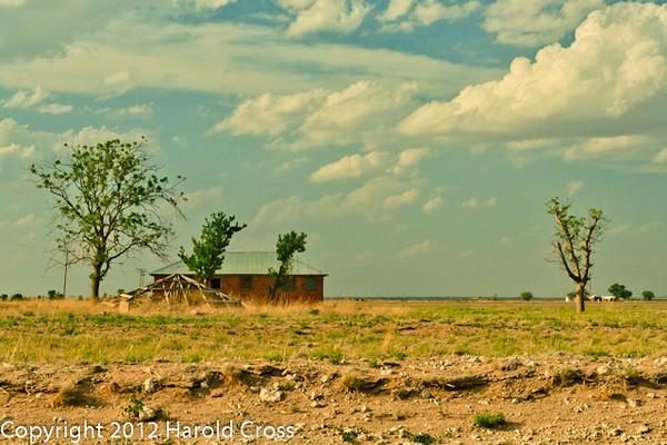 A landscape taken April 29, 2012 near Portales, NM.