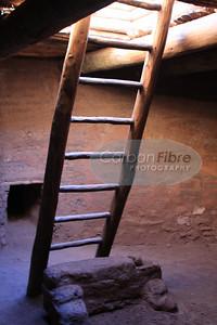 Kiva ladder, Pecos Pueblo