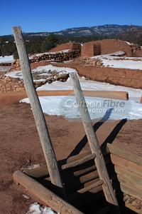 Kiva entrance, Pecos Pueblo