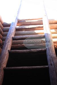 Kiva ladder detail, Pecos Pueblo