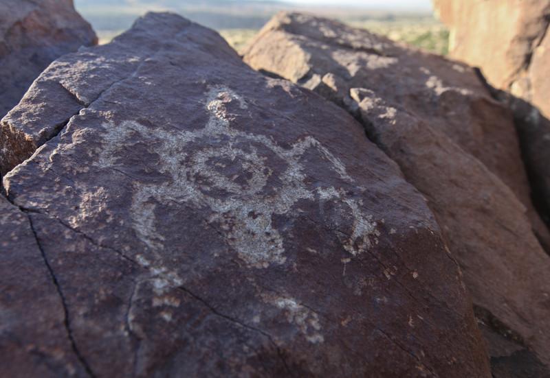 Petroglyphs at Diamond Tail Ranch, Placitas
