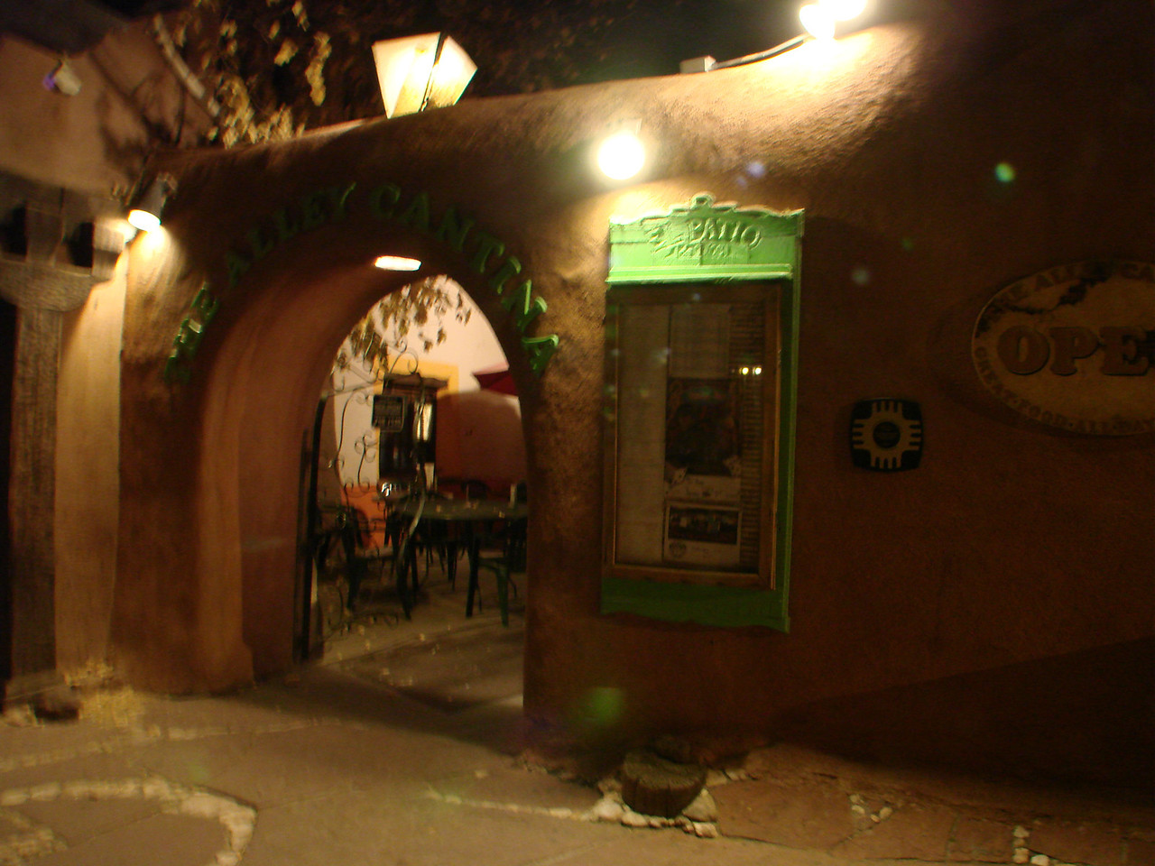 The Alley Cantina, Taos Plaza, Taos, New Mexico  http://www.alleycantina.com/