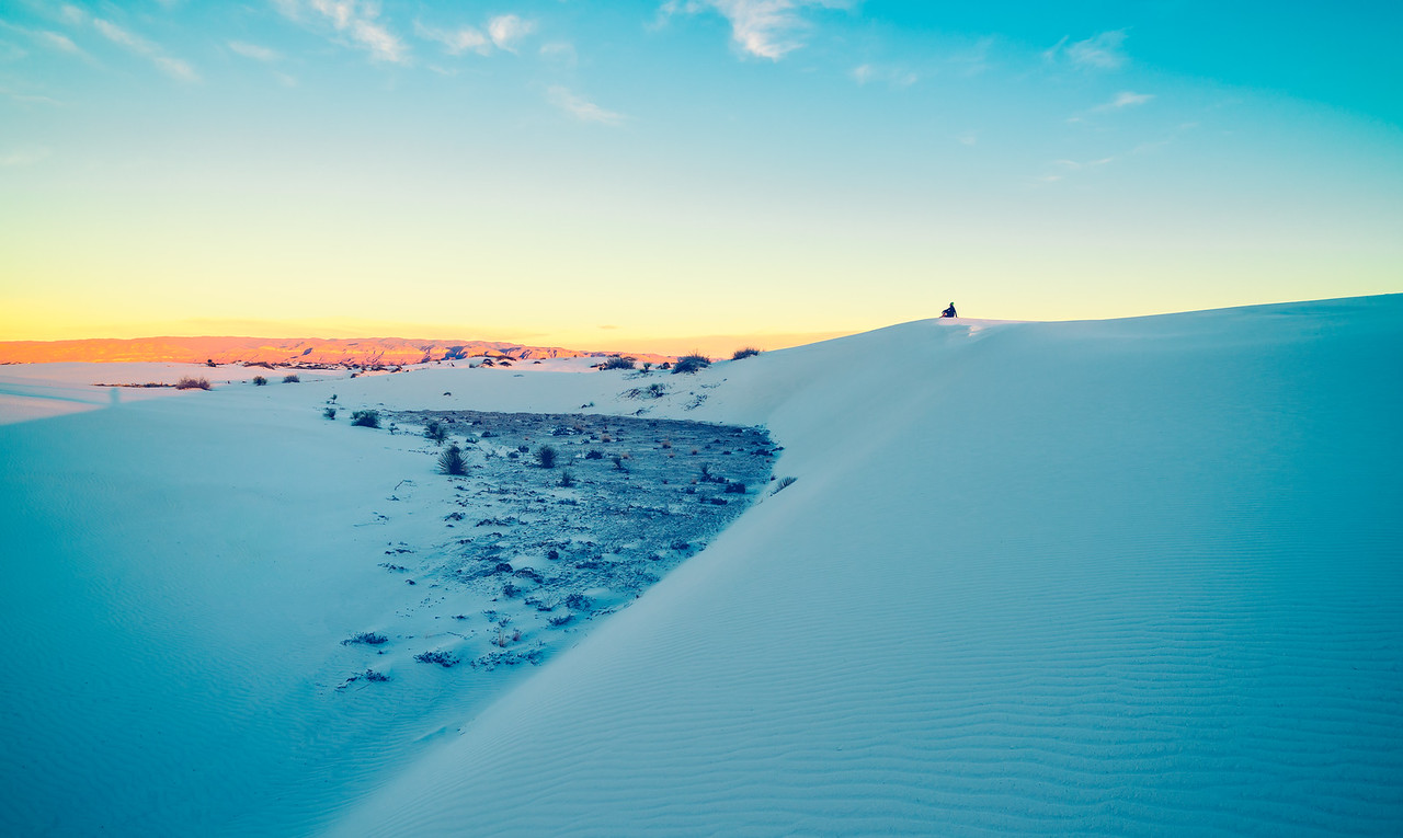 Soaking up the White Sands National Monument