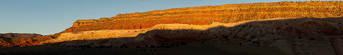 Just north of San Ysidro, NM as the sun was setting on Hiway 550.