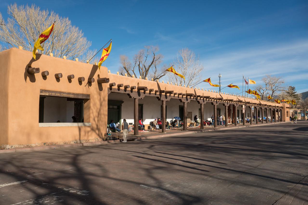 Palace of the Governors, Santa Fe Plaza, New Mexico