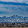Snowy mountain viewed from Bosque del Apache