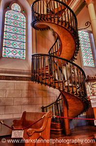 Loretto Chapel Spiral Staircase, Santa Fe, New Mexico