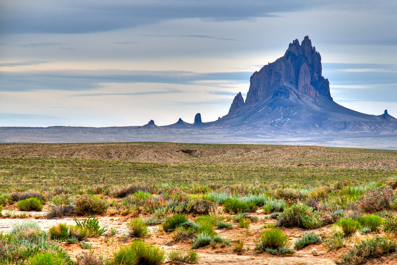 Shiprock in New Mexico is said to resemble a clipper ship.