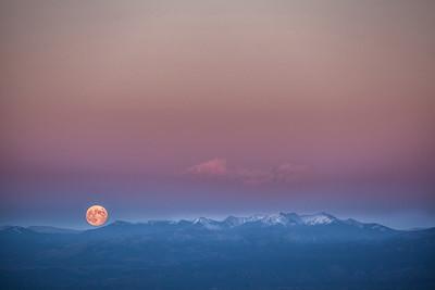 Moonrise over the Sangre de Cristo
