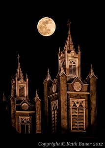 Super Moon - Old Town Albuquerque