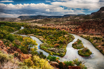 Overlook of the Chama river, north of Santa Fe. 3-shot HDR.